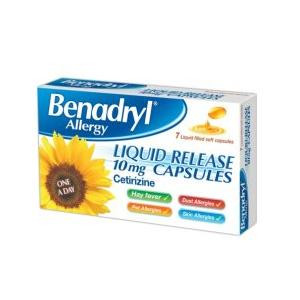 Image for Benadryl Allergy Liquid Release One A Day Relief 7 Capsules