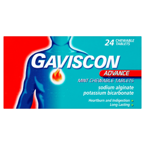 Image for Gaviscon Advance Mint Chewable Tablets 24 Chewable Tablets