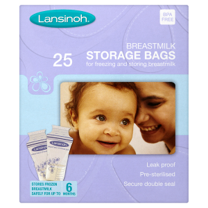 Image for Lansinoh 25 Breastmilk Storage Bags