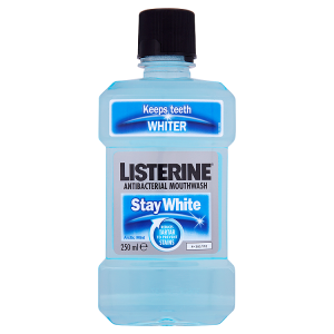Image for Listerine Antibacterial Mouthwash Stay White Arctic Mint 250ml