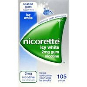 Image for Nicorette icy white 2mg Gum 105 Pieces