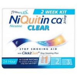 Image for NiQuitin CQ Clear 21 mg 14 Patches Step 1