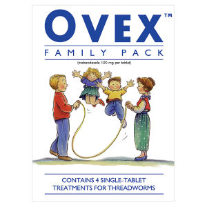 Image for Ovex Family Pack Contains 4 Single-Tablet Treatments for Threadworms