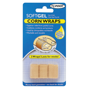 Image for Profoot Soft Gel Corn Wraps x 3
