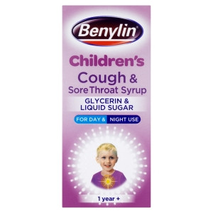 Image for Benylin Childrens Cough and Sore Throat Syrup - 125ml