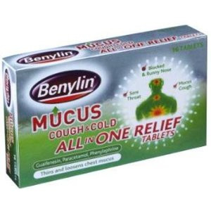 Image for Benylin Mucus Cough & Cold All in One Relief 16 Tablets
