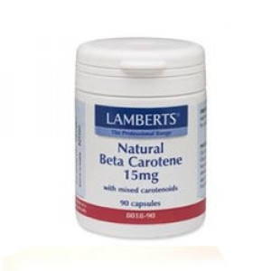 Image for Lamberts Natural Beta Carotene With Mixed Carotenoids 15mg 90 Capsules