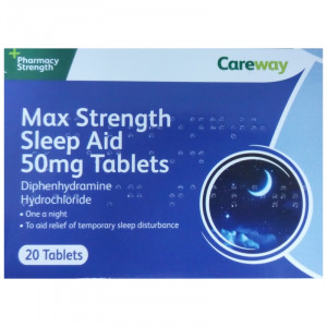 Careway Sleep Aid 50mg One A Night - Pack of 20 Tablets (formerly Vantage)