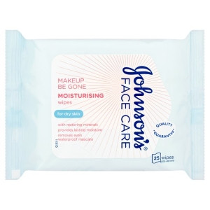 Image for Johnsons Face Care Moisturising Wipes (For Dry Skin) - 25 Wipes