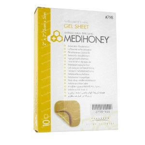Image for Medihoney 10 Gel Sheet Dressings 5cm x 5cm