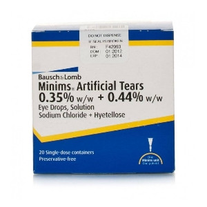 Image for Minims Artificial Tears 20 Doses