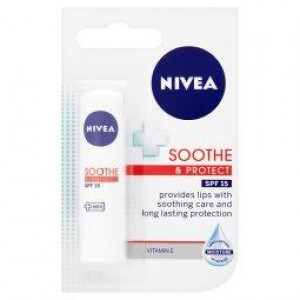 Nivea Lip Balm Soothe and Protect - Pack of 4.8g Tube