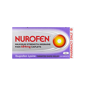 Image for Nurofen Maximum Strength Migraine Pain Caplets 12 Caplets