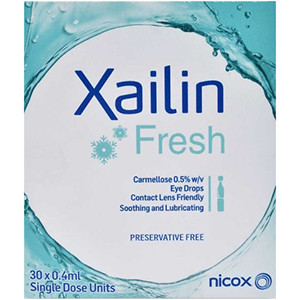 Image for Xailin Fresh Unit Dose Eye Drops 0.4 x 30