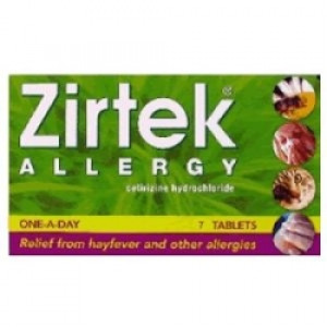 Image for Zirtek Allergy Relief 7 Tablets