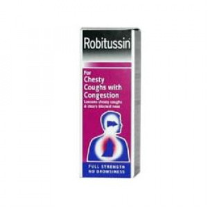 Image for Robitussin for Chesty Coughs with Congestion Sugar Free 100ml