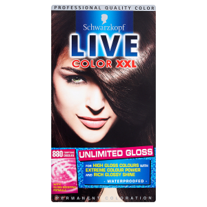 Image for Schwarzkopf Live Color XXL Unlimited Gloss Permanent Coloration 880 Tempting Chocolate