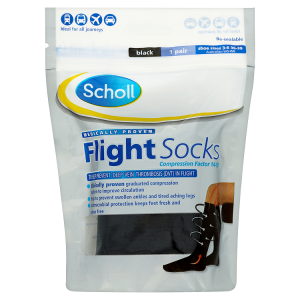 Image for Scholl Flight Socks Black 1 Pair Shoe Sizes 3-6