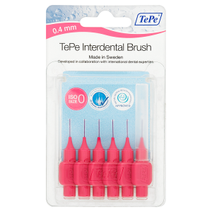 Image for TePe Interdental Brushes 6 x 0.4mm Pink