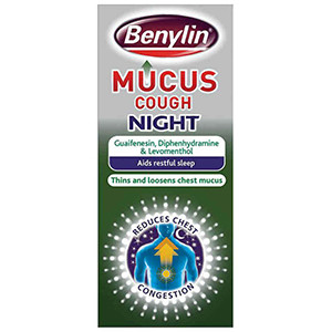Image for Benylin Mucus Cough Night 150ml