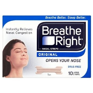 Image for Breathe Right Nasal Strips - Natural 10 Large