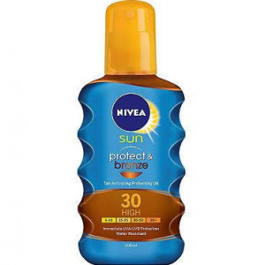 Nivea Sun Protect and Bronze spf 30 High - Pack of 200ml Spray