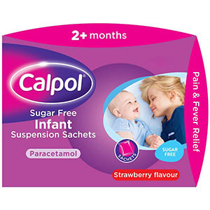 Image for Calpol Infant Suspension Sugar Free Sachets 12 x 5ml