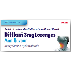Image for Difflam 3mg Lozenges Mint Flavour 20 Lozenges