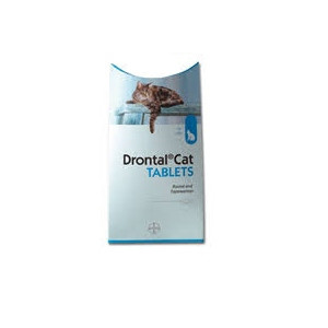 Image for Drontal Wormer for Cats - Priced Per Tablet