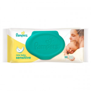 Pampers Sensitive New Baby Wipes 50 pack