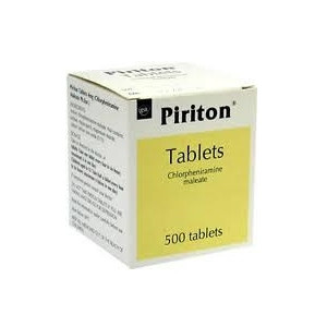 Image for Piriton Chlorphenamine Allergy Tablets 4mg 500 Tablets - Free Delivery