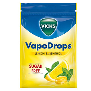 Image for Vicks VapoDrops Lemon & Menthol 72g