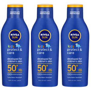 Image for Nivea Sun Kids Protect & Care Lotion SPF 50+ Very High - Pack of 200ml