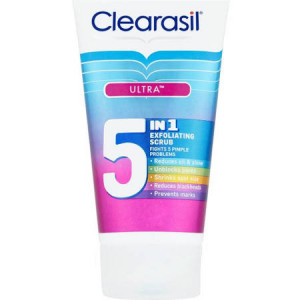 Clearasil Ultra 5 in 1 Exfoliating Scrub - Pack of 150ml