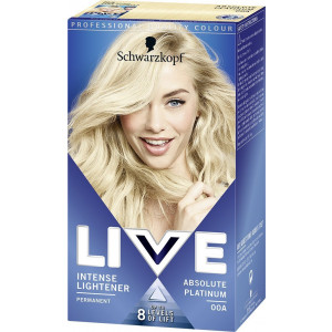 Schwarzkopf Live Color XXL Colour Intense Permanent Coloration 00A Absolute Platinum