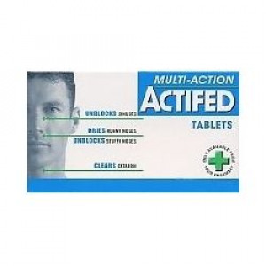 Actifed Multi-Action Tablets Pack of 12