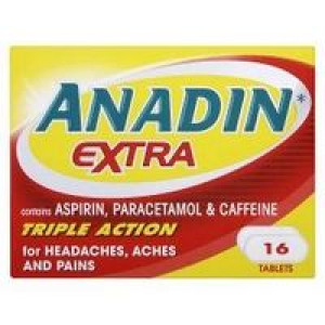 Image for Anadin Extra Triple Action 16 Tablets
