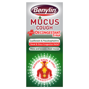 Image for Benylin Mucus Cough Plus Decongestant Syrup 100ml
