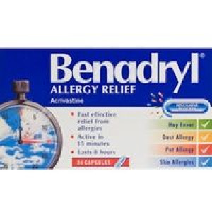 Image for Benadryl Allergy Relief Capsules 24 Capsules