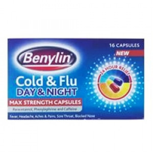 Image for Benylin Day And Night Cold And Flu 16 Capsules