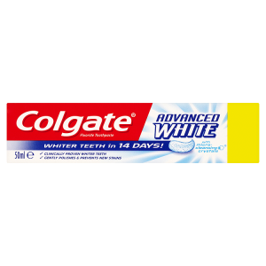 Image for Colgate Advanced Whitening Fluoride Toothpaste 50ml