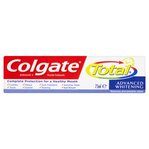 Image for Colgate Total Advanced Whitening Antibacterial & Fluoride Toothpaste 75ml