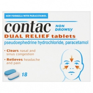 Image for Contac Dual Relief 18 Tablets