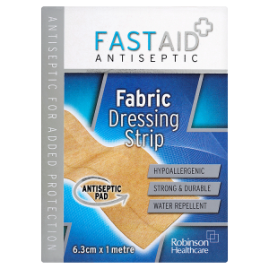Image for Fast Aid Antiseptic Fabric Dressing Strip 6.3cm x 1 Metre