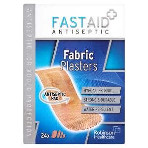 Image for Fast Aid Antiseptic Fabric Plasters x24