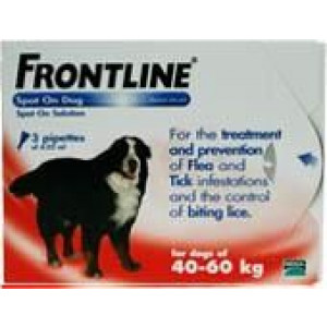 Image for Frontline Spot On 40-60K Dog 4.02ml 3S Red Ex-Large Dog