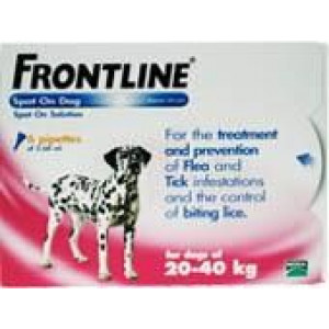 Image for Frontline Spot On 20-40K Dog 2.68ml 6S Pink Large Dog