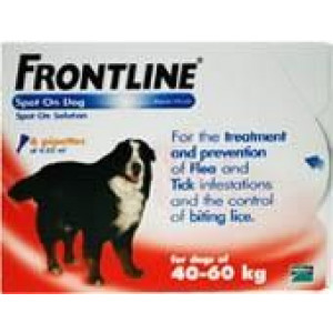 Image for Frontline Spot On 40-60K Dog 4.02ml 6S Red Ex-Large Dog