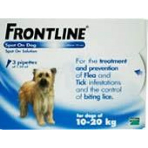 Image for Frontline Spot On 10-20K Dog 1.34ml 3S Blue Medium Dog