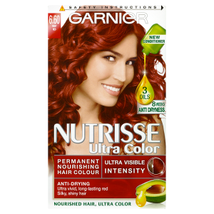 Image for Garnier Nutrisse Ulta Color Permanent Nourishing Hair Colour 6.60 Fiery Red